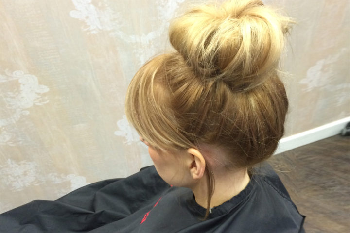 The perfectly messy-chic bun